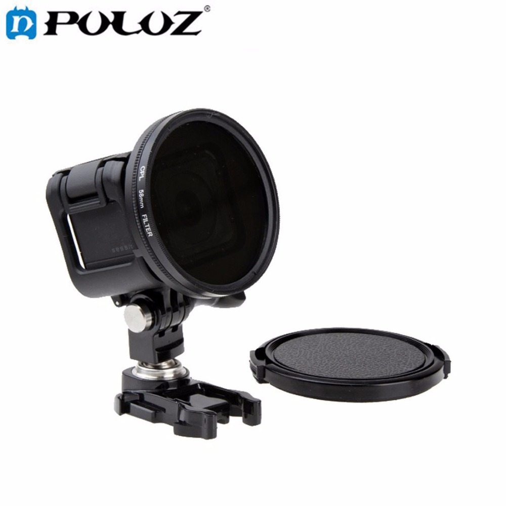 For Go Pro Accessories 58mm Round Circle Polarizer Filter CPL Lens Filter UV Lens Filter with