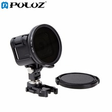 For Go Pro Accessories 58mm Round Circle Polarizer Filter CPL Lens Filter UV Lens Filter with Cap for GoPro HERO4 HERO 4 Session
