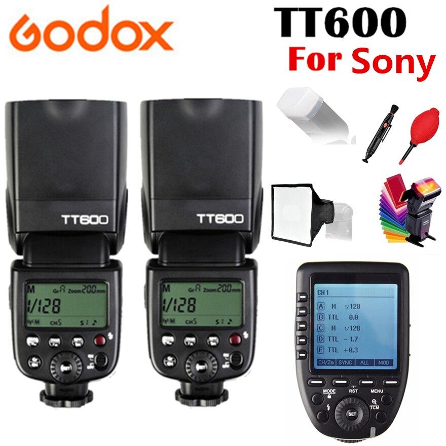 2X Godox TT600 TT600S Flash X Système GN60 2.4g Sans Fil TTL HSS Flash Speedlite Pour Sony Caméra + Xpro -S Émetteur Trigger