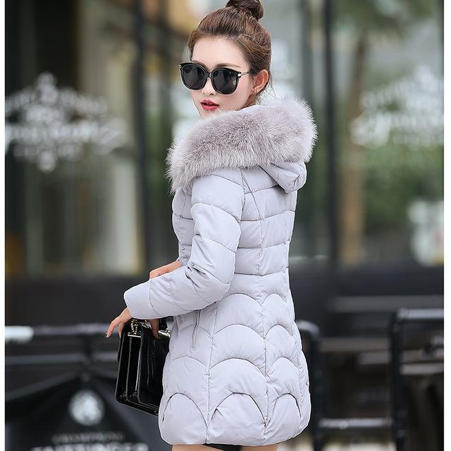 Aelorxin Escudo Invierno de Las Mujeres Super Caliente Larga Sección Nagymaros Collar Chica Abrigo de Invierno Para Mujer Chaquetas y Abrigos de 2016 del Nuevo de la Llegada