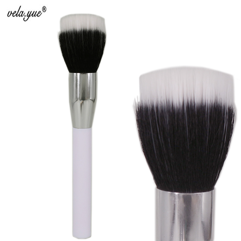 Premium Duo Fiber Stippling Brush Multipurpose Face Makeup Brush For Powder Foundation Bronzer Blush Cosmetics Beauty Tool