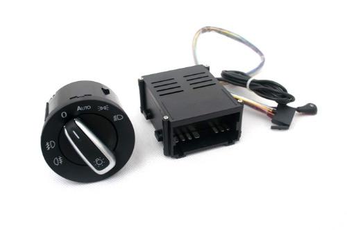 Capteur de lumière et Kit de modification automatique de l'interrupteur de la tête Euro pour VW Volkswagen Golf MK4