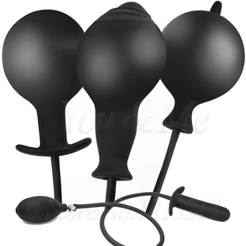Super grande gonfiabile enorme grande spina anale Max 12cm pompa Dildo dilatatore anale espandibile nessun vibratore Butt Plug palline anali giocattoli del sesso