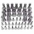 46pcs/lot Stainless Steel Cake Nozzles Russian Nozzle Pastry korean Icing Piping Nozzles Tips Cake Decorating Tools
