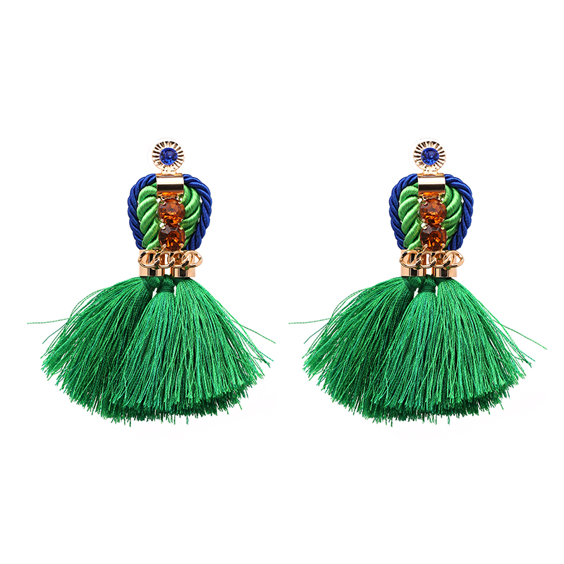 Vintage Tassel Earring 6 Colors New Arrival Hot Sell Trend Fashion Rope Design Party Girl Statement Earrings For Women