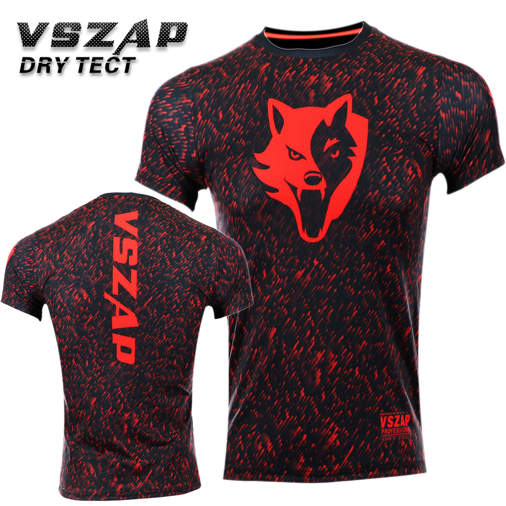 VSZAP NOISE Compression T-Shirts MMA Rashguard Short Sleeves Quick Dry Base Layer Skin Tight Mens Boxing Shirt Bjj Fighting