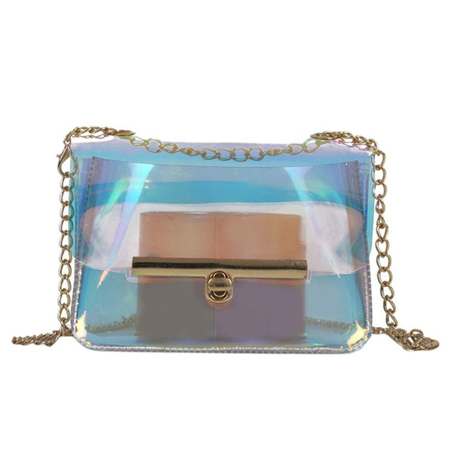 Vip Dropshipping Women Bags Clutch Handbags Transpartent Chain Shoulder Bag Clear Messenger Cross Jelly