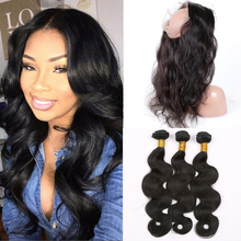 8A 360 Lace Frontal With Bundle Body Wave Pre Plucked 360 Frontal With Bundles Brazilian Virgin Human Hair With Frontal Closure
