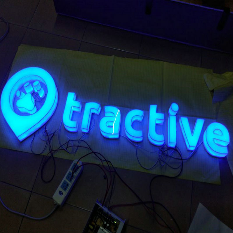 Outdoor 3D Restaurant custom made signage acrylic luminous letters