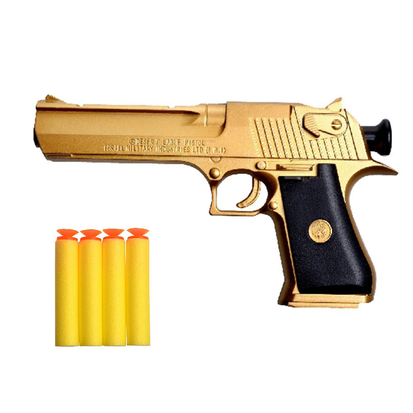 US $7 55 40% OFF|Plastic Desert Eagle Toy Gun Airsoft Pistol Weapons For  Airsoft Simulation Gun Outdoor Toys For Children Safe Foam Bullets-in Toy