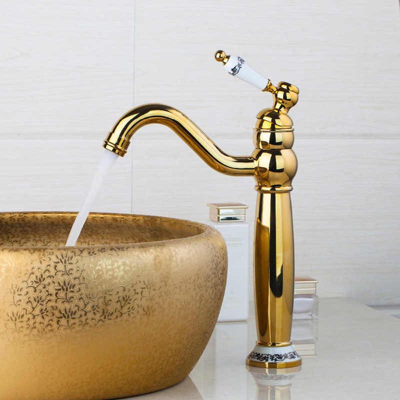 Kemaidi retro banheiro mixer rosa ouro polido bronze antigo bacia sink bica giratória cerâmica torneira misturadora