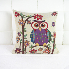 1Pc Square Comfortable Owl Pillowcase 10 Designs to Selection / 42 * 42 CM