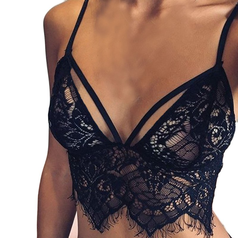 Summer Women Sexy Lingerie Lace Hollow Bra Straps Wrapped Chest Vest Tanks