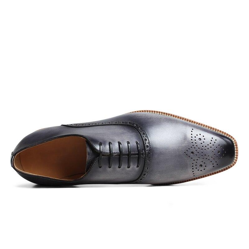 VIKEDUO 2019 Zomer Nieuwe Sneakers Patina Brogue Casual Mans Schoeisel Lederen Bruiloft Kantoor Oxford Jurk Schoenen Zapatos-in Oxfords van Schoenen op  Groep 3