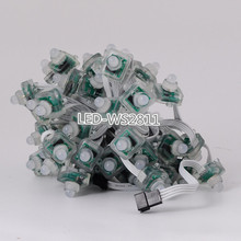 50x 5V WS2811 IC Full Color LED Pixel RGB String Module Light IP68 T1515 White wire DC5V