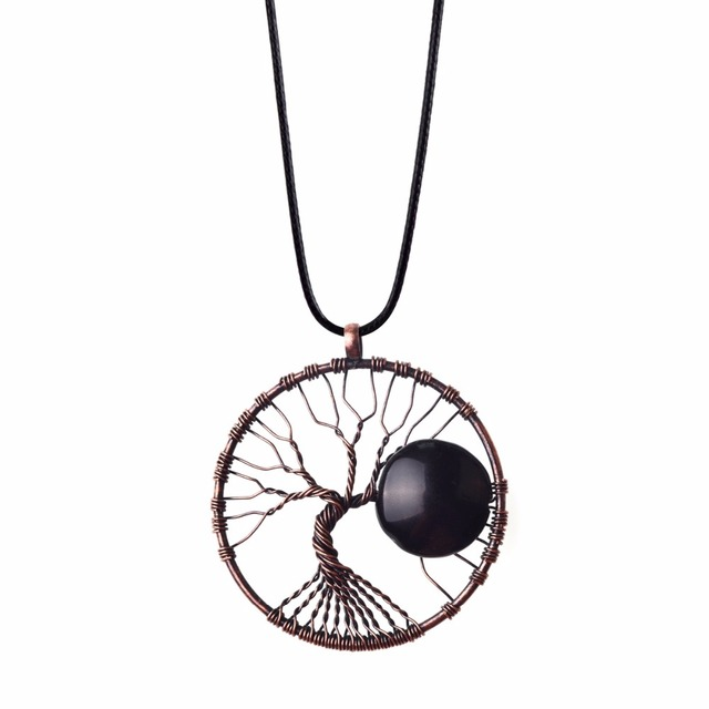 Wholesale 5pcs lot vintage jewelry handmade tree of life necklace wholesale 5pcs lot vintage jewelry handmade tree of life necklace antique bronze wire wrapped natural aloadofball Gallery
