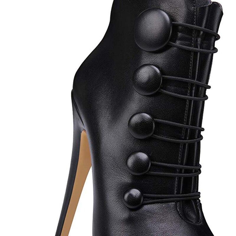43 Arden Toe Haute Parti 42 Sexy Printemps 16 Talons Zipper Furtado Plate Cm Chaussures Cheville Stylets Peep Black Dames Bottes forme 2019 Automne 1ucFl3TKJ