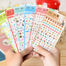 Creative Daily Planner Sticker Kawaii Birds,Sea Animals,Pig,Flower Diary Sticker for Calendar,Scrapbook,Photo Album(China)