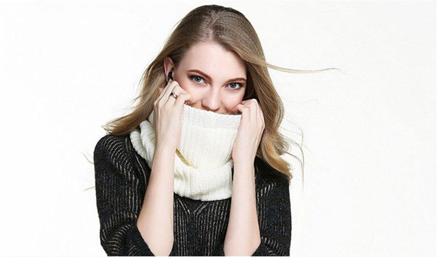 Wireless Bluetooth V3.0 Soft Scarf Neckerchief Winter Knitted Design Smart Scarf Headset Headphone Speaker Microphone