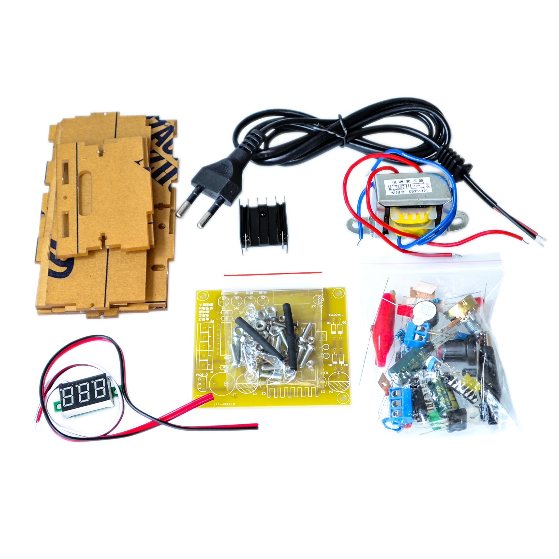 Electronic Diy Parts Lm317 Adjustable Voltage Regulator Board Kit 10a 1 30v Variable Power Supply With Transformer