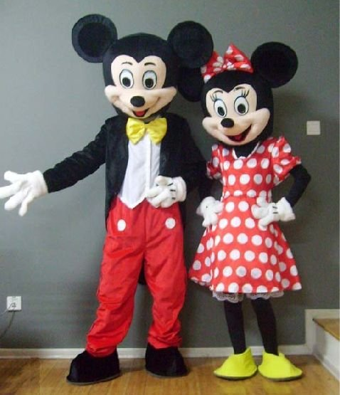 2010 hotest lovely Minnie mickey mouse costume cartoon costume Free Shipping  sc 1 st  AliExpress.com & Newest Cute wedding Minnie Micky mouse couple costumes mascot ...