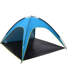 FLYTOP Beach Tent Gazebo 3 4 Persons Anti UV Awning Tents Outdoor Sunshelter Camping Fishing Sunshade Tourist Ultralight