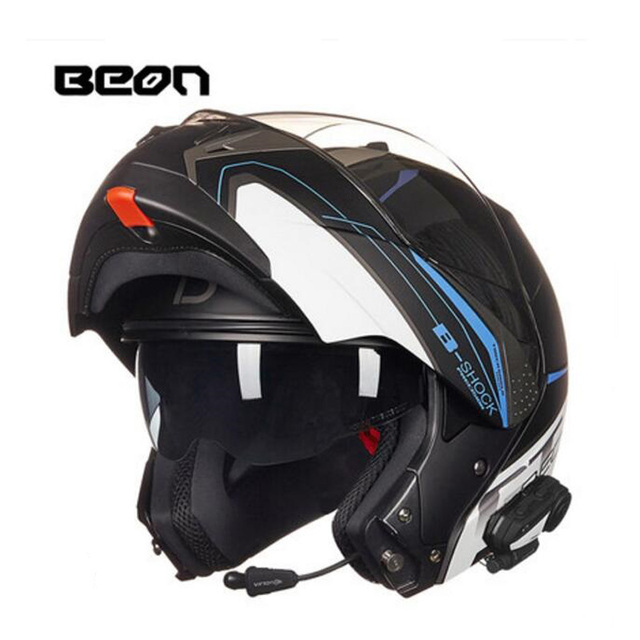 2019 New Netherlands BEON undrape face motorcycle helmet open face motorbike helmets with Bluetooth made of ABS PC lens visor 4