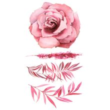 Fashion Colorful Flowers Tattoo Women New Waterproof Temporary Black Tattoo Sticker Body Art #1(China)