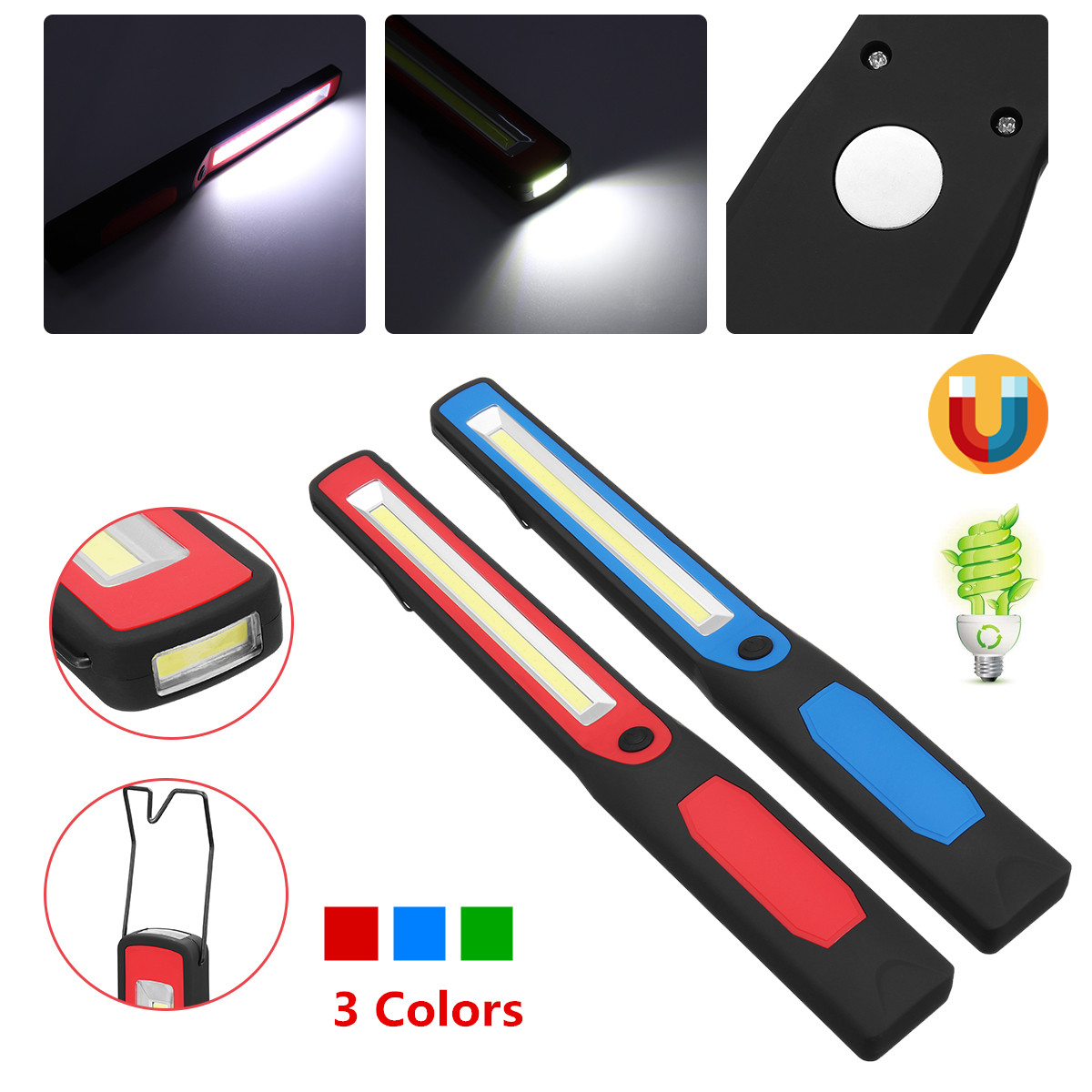 COB Flashlight Torch Magnetic LED Work Light USB Rechargeable COB Working Lamp 18650 Or AA Battery For Camping Car RepairingCOB Flashlight Torch Magnetic LED Work Light USB Rechargeable COB Working Lamp 18650 Or AA Battery For Camping Car Repairing