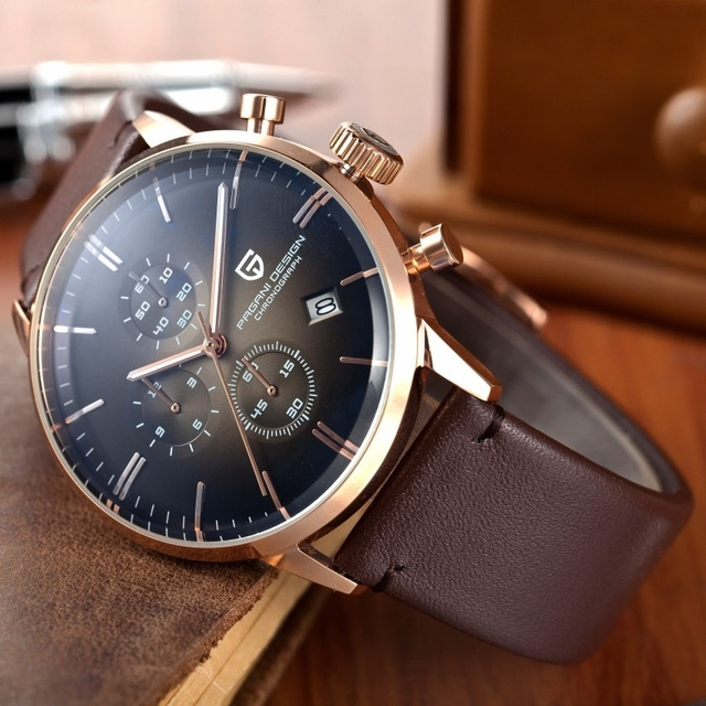 Mens Watches Top Brand Luxury Waterproof 30M Genuine Leather Sport Military Quartz
