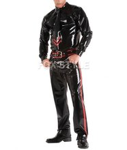 Heavy Latex Rubber Jeans With Front & Back Pockets not inlcuding belt