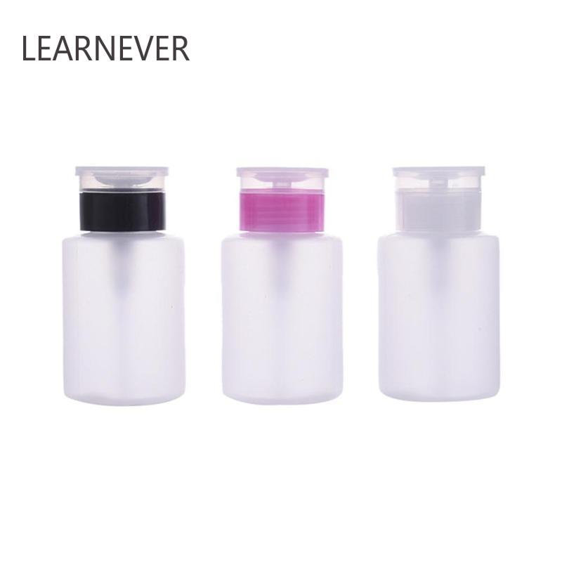 Nail Art Refillable Bottles Mini Pomp Acryl Gel Polish Remover Cleaner Liquid Container Kleine Druk Fles Nail Art Bottle M03465