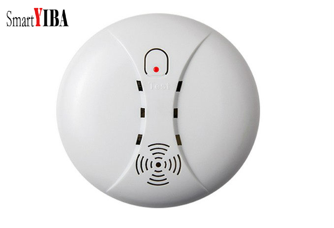 SmartYIBA Battery Powered 433MHz Wireless Smoke Sensor Detector Alarm For Alarm System