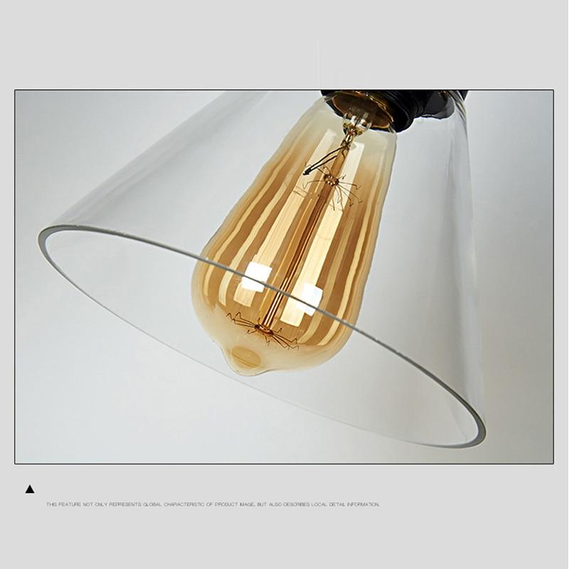 Loft RH Vintage կախազարդ լույսեր ապակե - Ներքին լուսավորություն - Լուսանկար 4