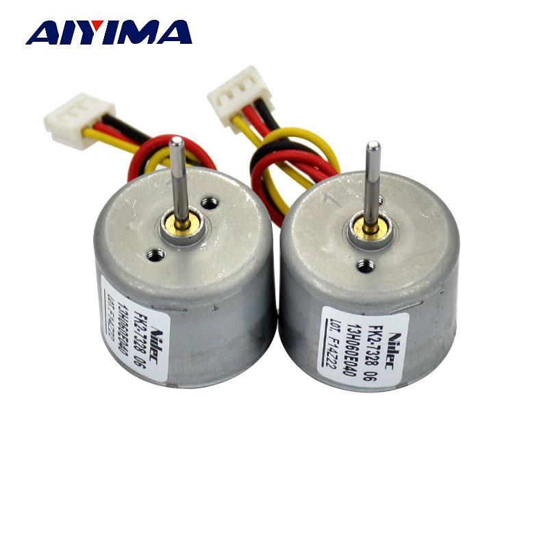 Aiyima 2 Stks Dc Borstelloze Motor Dc12v-24v Lange As Ccw Ingebouwde Drive Board Omkering Inner Rotor Voor Kappers Apparatuur Punctual Timing
