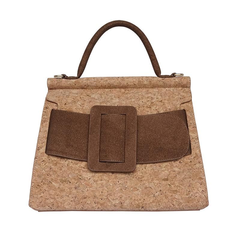 KAOGE Vegan Luxury Natural cork bag Women Handmade Shoulder Bags waterproof Antifouling Handbag Designer Bags Ladies Hand Bag стоимость