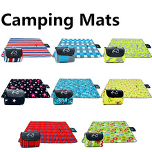 200*200cm  Camping Meal Mats Waterproof on the Back   Outdoor Tent Moisture Pad Baby Climb Plaid Blanket  Beach mat Yoga Mats good little baby crawling mat climb pad double sided pattern of increased moisture thicker section skid game blanket outdoor pad