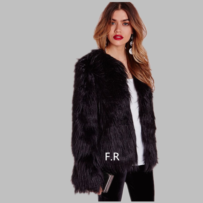 Popular Short Black Fur Coat-Buy Cheap Short Black Fur Coat lots ...