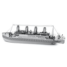 Titanic Vessel Jigsaw Puzzle For Boy Ship Model Creative Kids Toys Children Gift Stainless Steel Laser