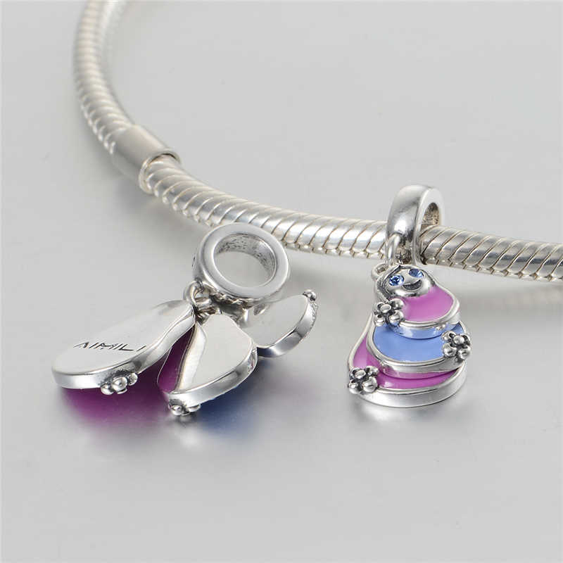 Высокое качество 925 серебряный шарм для браслета браслет женский оригинальный DIY аутентичный драгоценный подарок Шарм ювелирные изделия gw S349H20