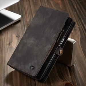 Image 3 - Capa de telefone para samsung galaxy s7 edge s8 s9 s10 plus s10e nota 8 9 10 pro caso multi funcional carteira couro ímã capa traseira