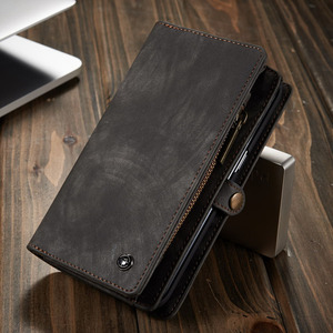 Image 3 - Phone Case sFor Samsung Galaxy A20 A20E A30 A40 A70 A80 A50 case 2 in 1 Multi functional Wallet Leather Magnet back cover Coque