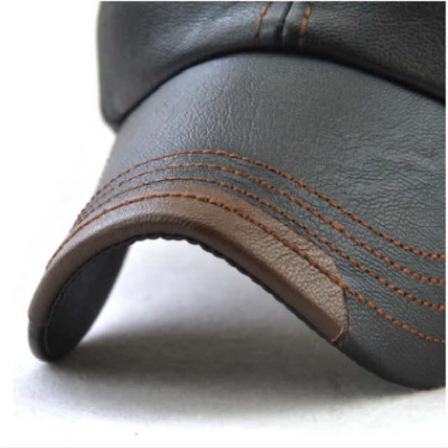 54dea429ccc placeholder JAMONT Casual Men Blank PU Winter Baseball Cap Hip Hop  Adjustable Autumn Male Leather Snapback Hat