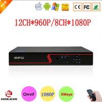 XMeye App Hisiclion Chip Rot-Ray Fall 8CH 1080 P, 12CH 960 P HD Digitale Überwachung Video Recorder Onvif IP NVR Kostenloser Versand