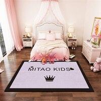 Nordic Language Living Room Bedside Carpet Area Rugs Doormat Prayer Yoga Bath Mat Flannel Kitchen Outdoor Floormat 200*200cm