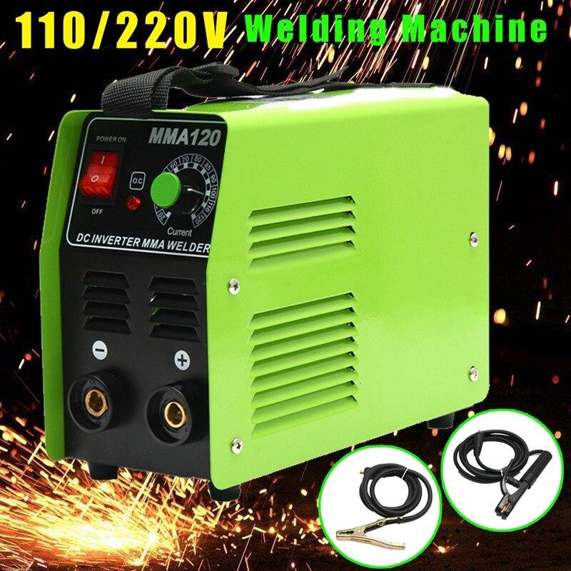 Forgelo 1Pcs Portable MMA 120 Welding Machine DC Inverter for MMA Welding Tools 110V 220V Arc Welders Electric Welding Equipment