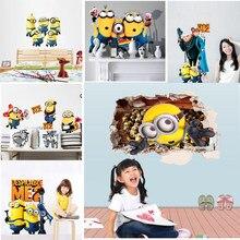 Adesivos de parede para quartos dos miúdos dos desenhos animados crianças quarto sala adesivo de parede decalque da parede de presente de aniversário