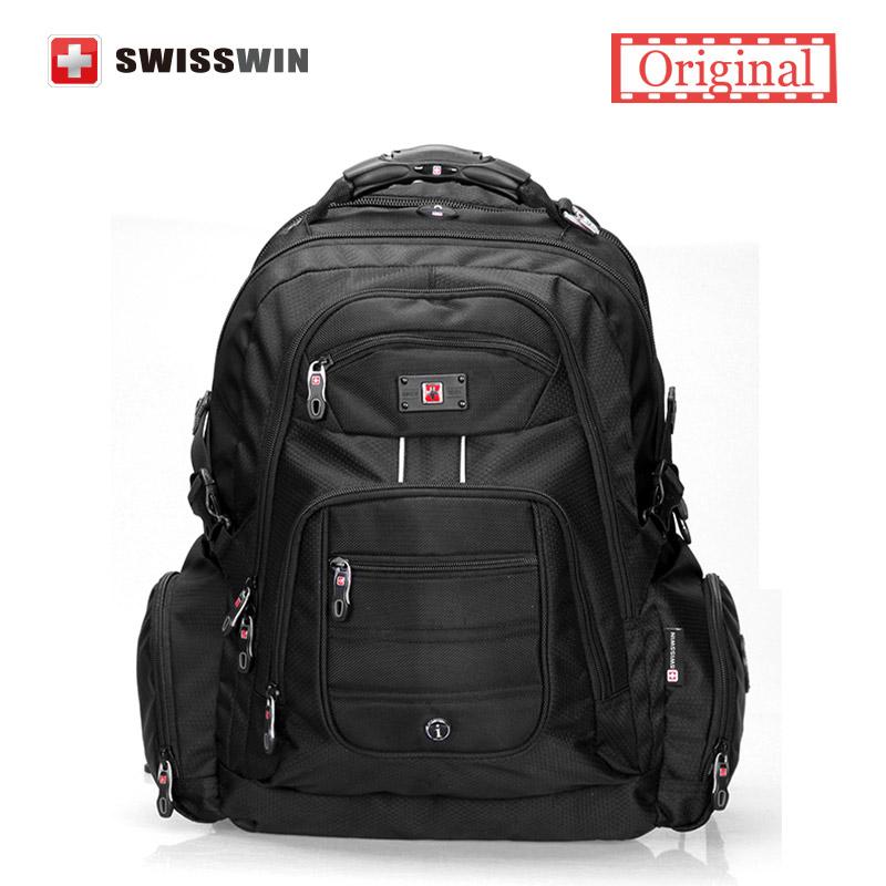 """Prix pour Suissewin 17 """"ordinateur portable sac d'ordinateur portable pour hommes sac à dos en nylon imperméable à l'eau sac à dos pour voyage d'affaires de grande capacité sac à dos mochilas"""