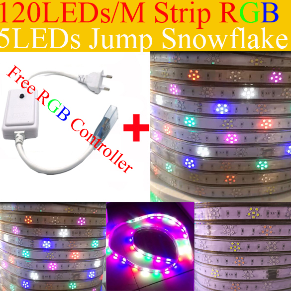 Smd2835 rgb led strip light 5leds jump snow ip66 waterproof led smd2835 rgb led strip light 5leds jump snow ip66 waterproof led rope light 120ledsm aloadofball Image collections