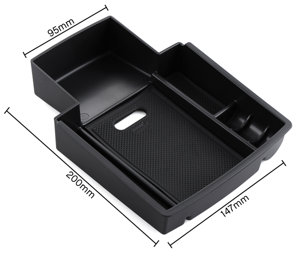 Image 5 - For Audi A4 B8 A5 S5 2009 2016 Central Armrest Storage Box Container Holder Tray Car Organizer Accessories Car Styling-in Car Stickers from Automobiles & Motorcycles
